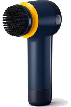 philips schoenpoetsmachine sneaker cleaner gca1000-60 500 toeren-min, 80 minuten bij 450 g belasting, werkt op batterijen (4 x aa-batterijen), inclusief 3 borstels (spons, zachte borstel, harde borstel), blauw