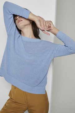 tom tailor mine to five lange trui eenvoudige gebreide trui blauw