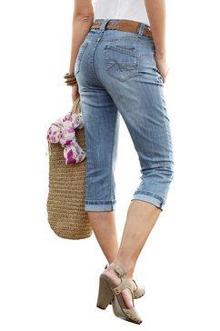 cheer capri-jeans met krinkeleffect blauw