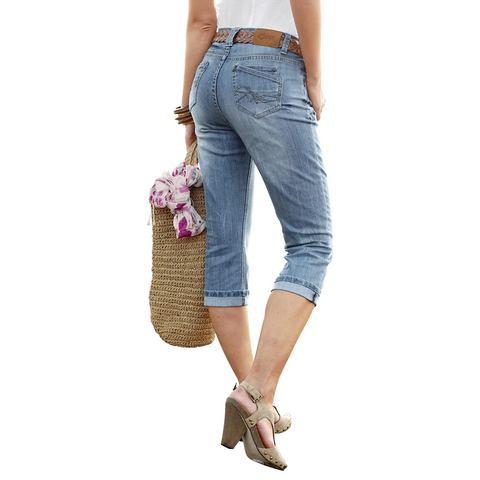 CHEER Capri-jeans met krinkeleffect