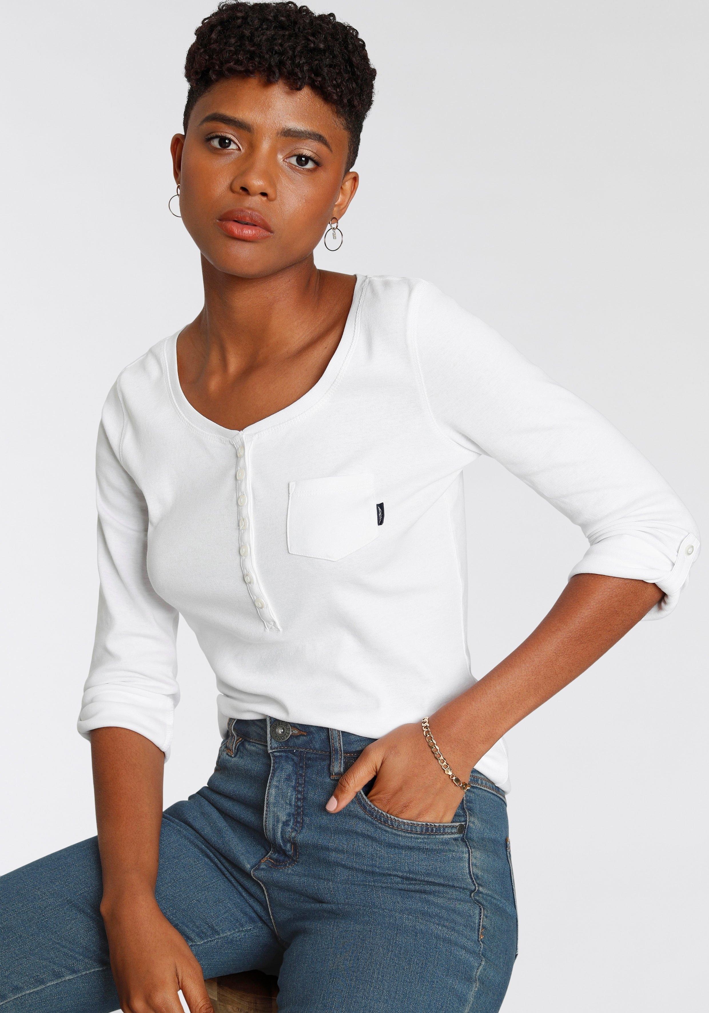 Arizona shirt met lange mouwen met knoopsluiting goedkoop op otto.nl kopen