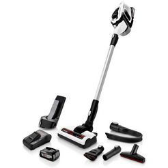 bosch accu-steelstofzuiger unlimited serie 8, bbs812am, wit wit