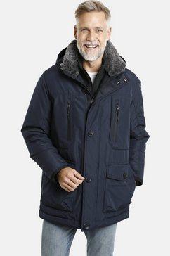 jan vanderstorm winterjack botulfr met afneembare capuchon blauw
