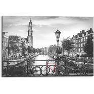 reinders! artprint op hout amsterdam canal (1 stuk) zwart