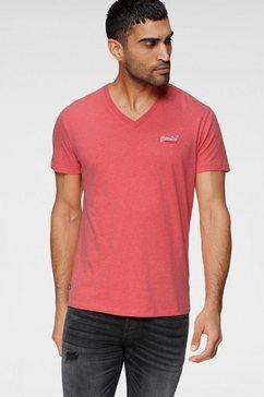 superdry shirt met v-hals ol classic vee tee ns rood
