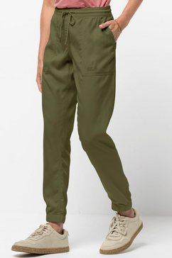 jack wolfskin broek met elastische band »mojave pants w« groen
