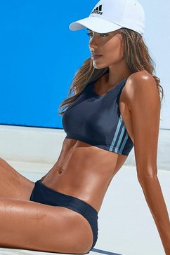 adidas performance bustierbikini in sportief design blauw