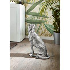 leonique decoratief figuur leopard hoogte 40,5 cm zilver