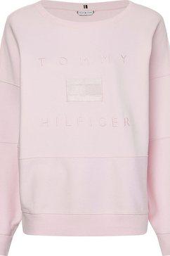 tommy hilfiger sweatshirt »oversized tonal sweatshirt ls« roze