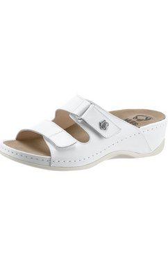 slippers met een uitneembaar voetbed wit