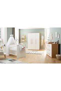 luettenhuett baby complete babykamerset lauris, wit-eiken fsc-hout uit duurzaam beheerde bossen; met kinderbed, kast en commode (set, 3 stuks) wit