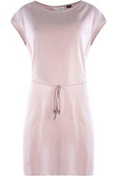 mazine jerseyjurk ruth met kleine decoratieve riem  all-over print beige
