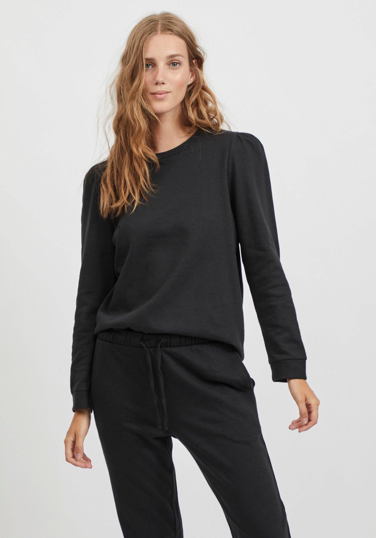 Vila sweatshirt met aanrimpeling op de schouder nu online kopen bij OTTO