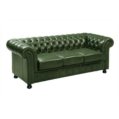 woonkamer leren bankstel groen heine  meubelen 3