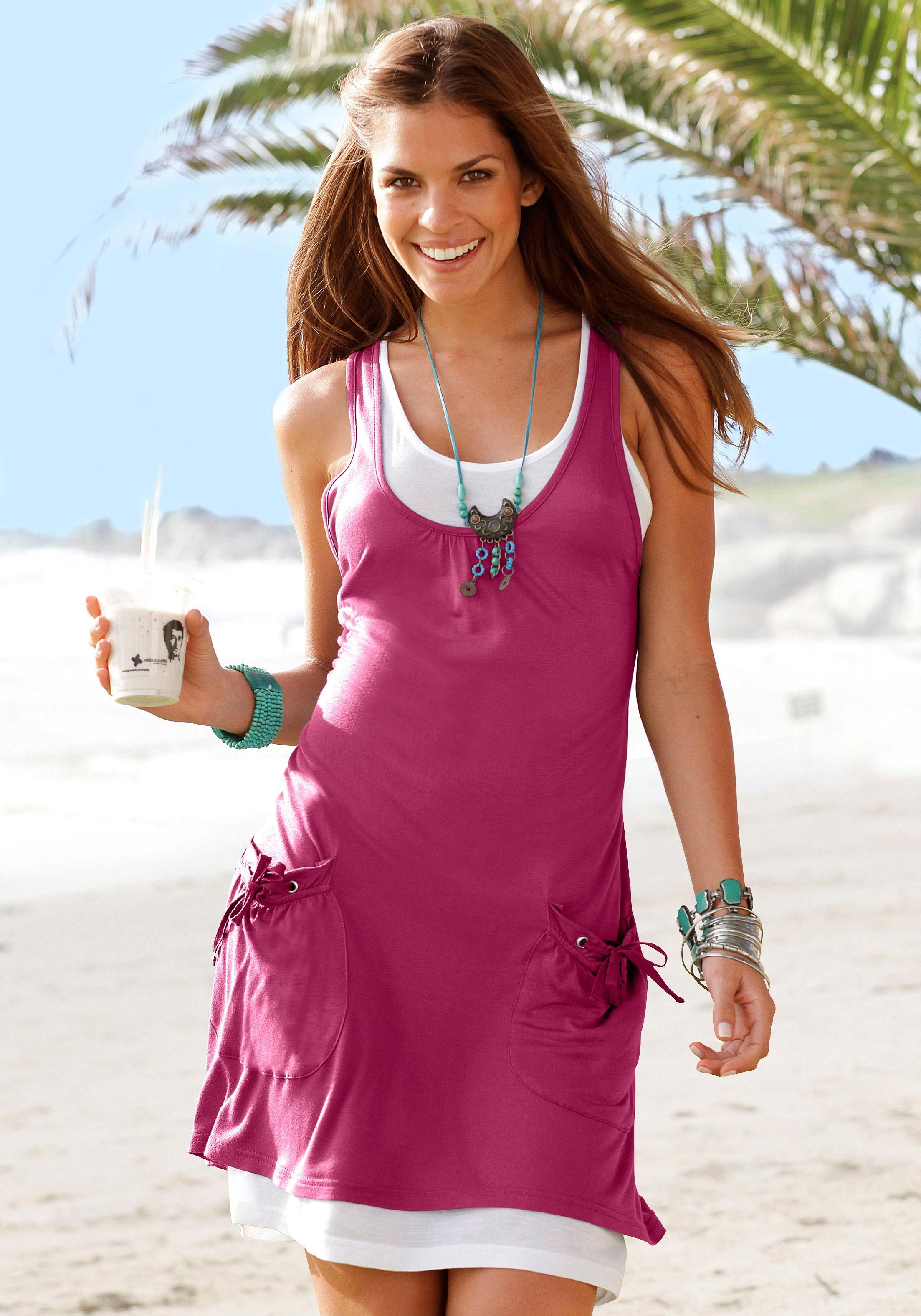 Beachtime strandjurk in laagjes look nu online kopen bij OTTO