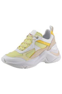 tommy hilfiger sneakers met sleehak »fashion wedge sneaker« geel