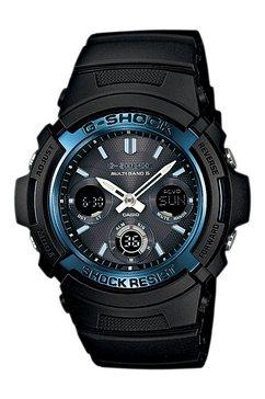casio g-shock radiografische chronograaf »awg-m100a-1aer« zwart