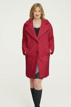 mantel van imitatiebont rood
