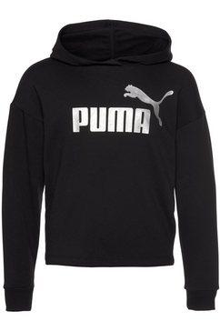 puma hoodie logo cropped hoodie zwart