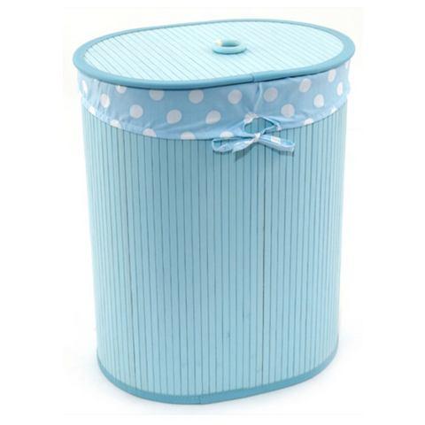 Badkameraccessoires FRANZ M�LLER FLECHTWAREN Wasbox ovaal turquoise 705750