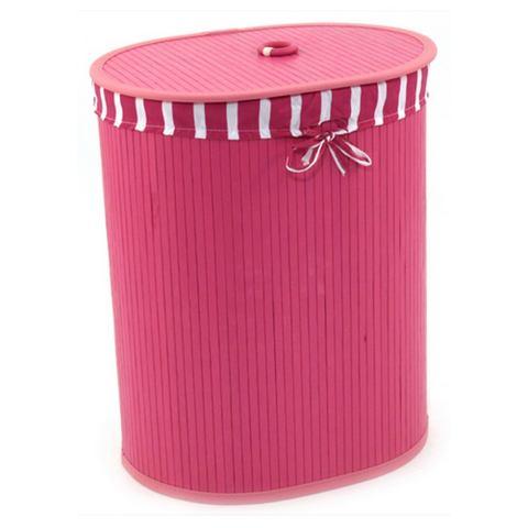 Badkameraccessoires FRANZ M�LLER FLECHTWAREN Wasbox ovaal pink 714940