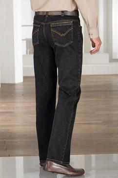 classic jeans met comfortabele elastische band zwart