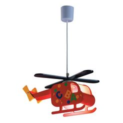 rabalux kinderkamerlamp helikopter met 1 fitting rood