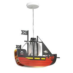 rabalux kinderlamp piratenschip met 1 fitting rood