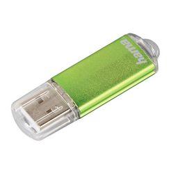 hama usb-stick 64 gb, usb 2.0, 10 mb-s, geheugenstick groen »flashpen met dop«