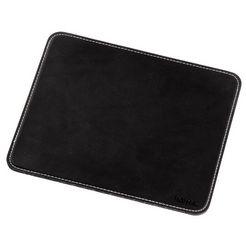 hama muismat mousepad in chique leer-look, zwart »voor optische en lasermuizen«