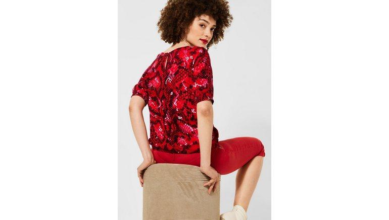 STREET ONE blouse met lange mouwen met elastiek in de band