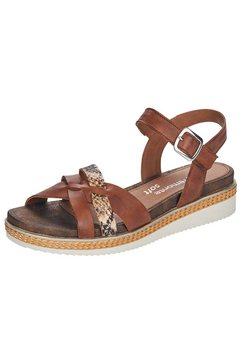 remonte sandaaltjes met gekruiste riempjes bruin
