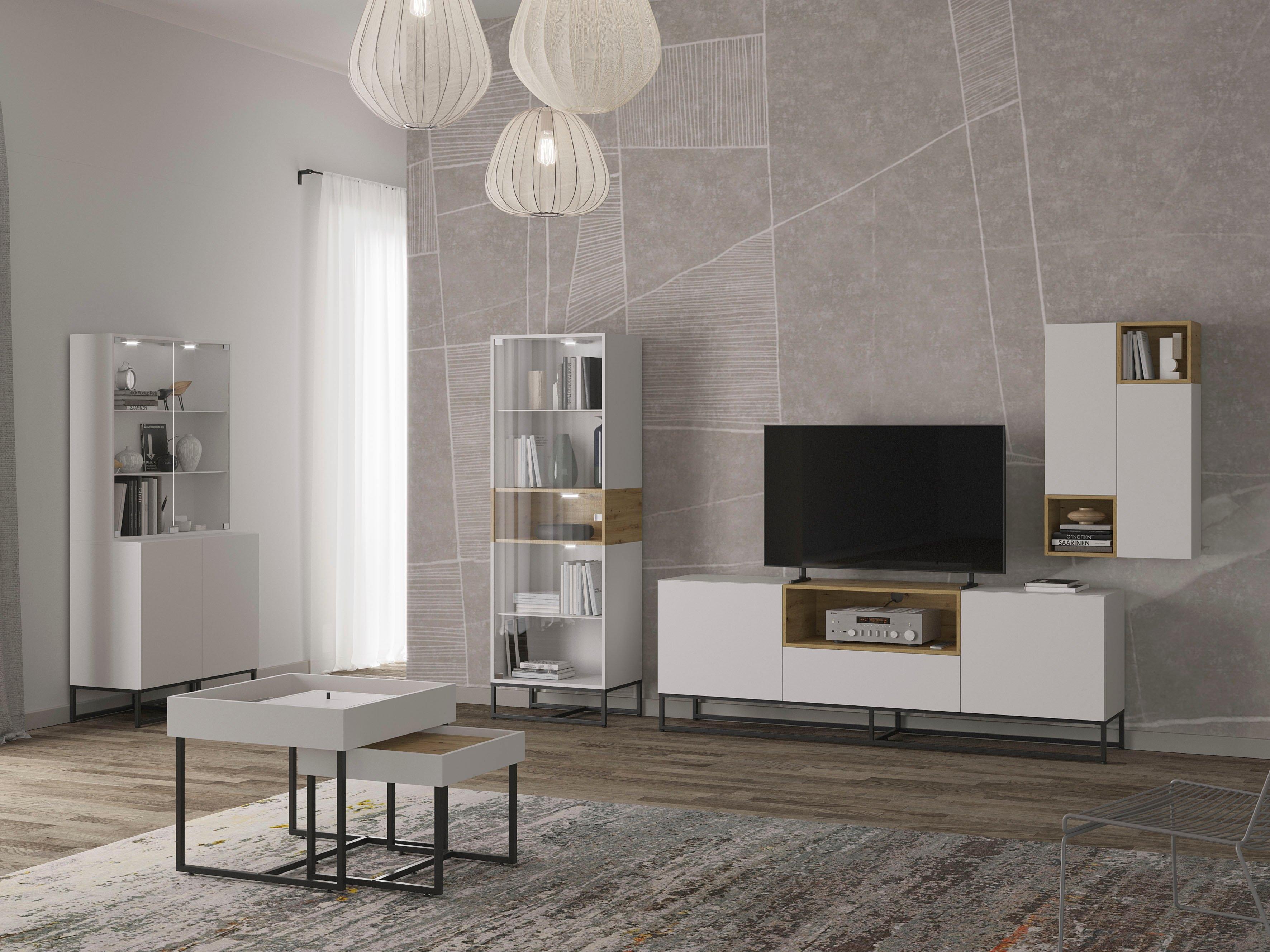andas tv-meubel Calipso Tv-meubel met push-to-openfunctie, tv-tafel breedte 200 cm bij OTTO online kopen