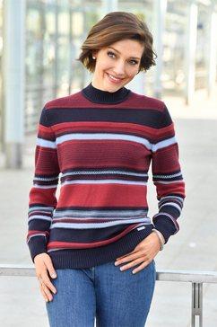 casual looks trui met staande kraag trui rood