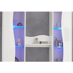 led-verlichting voor glasplateau zilver