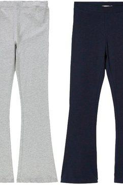name it legging »nkfrava bootcut pant 2p« (packung, 2 tlg.) blauw