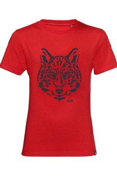 jack wolfskin t-shirt brand t kids rood