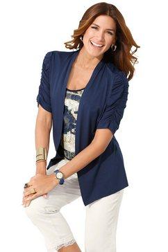 2-in-1-shirt met viscose blauw