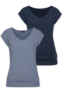 h.i.s functioneel shirt (set van 2) blauw