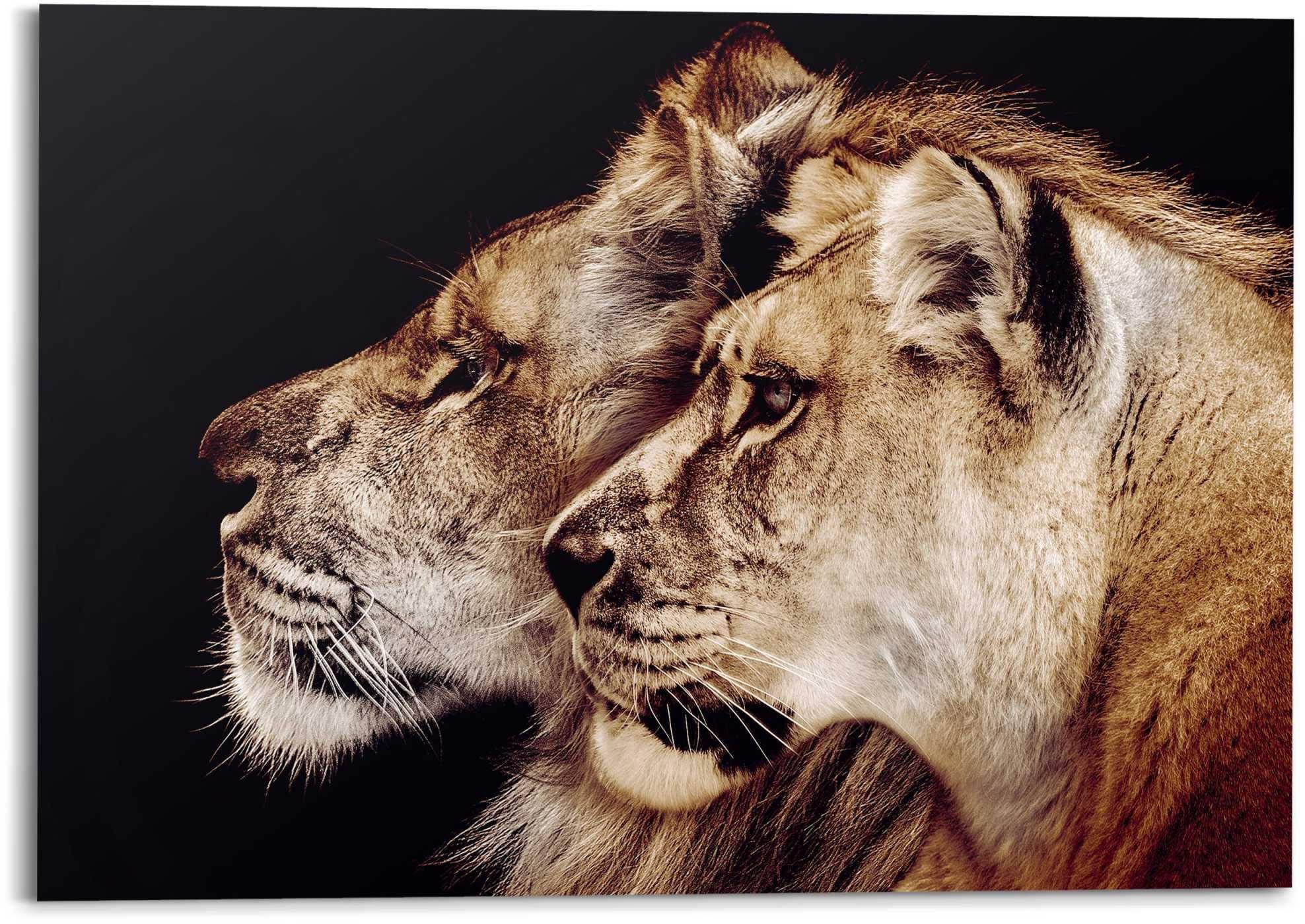 Reinders! artprint leeuw en leeuwin roofdier - leeuwenkop - zijportret (1 stuk) - gratis ruilen op otto.nl