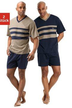 korte pyjama, set van 2, le jogger blauw