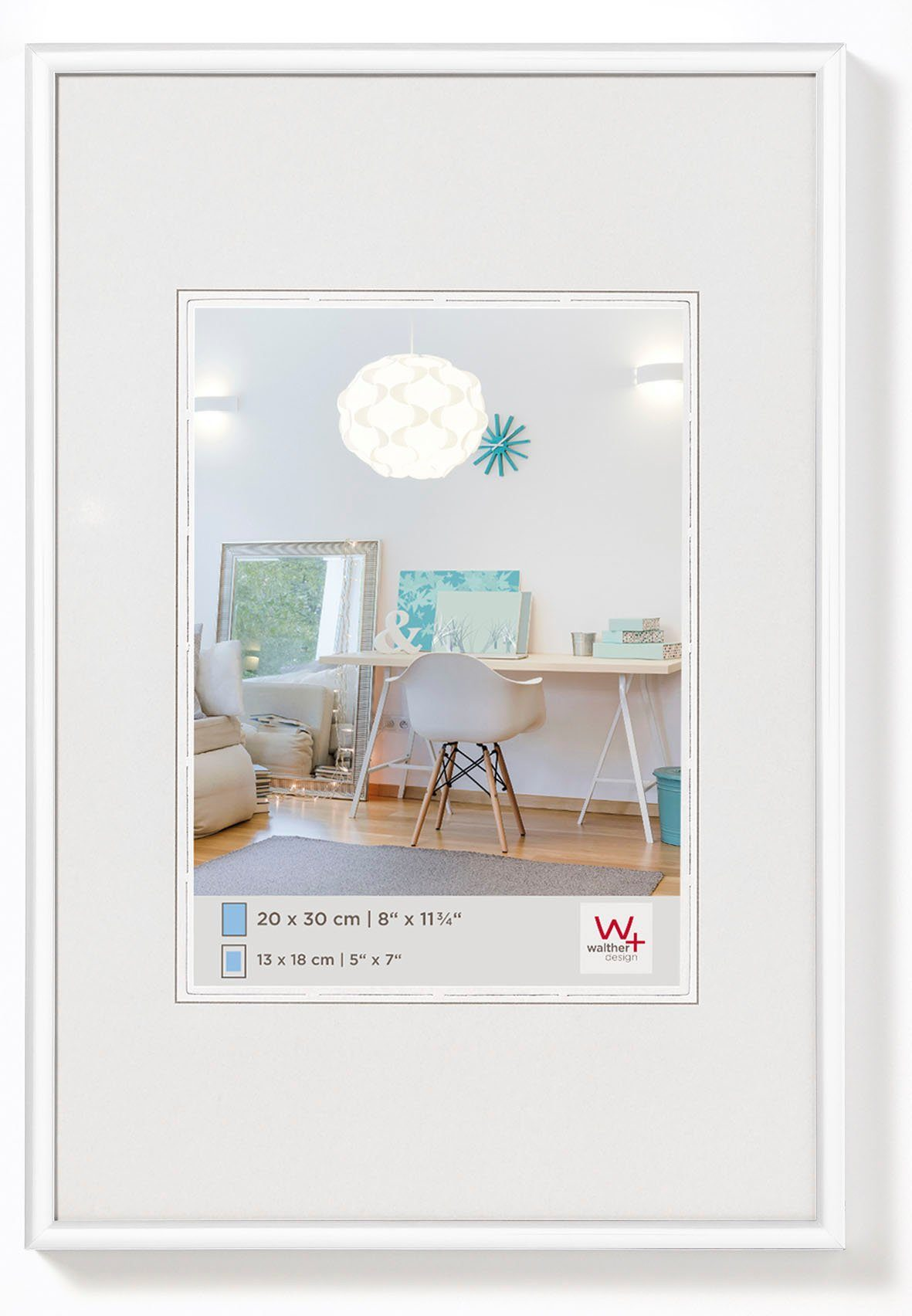 Walther New Lifestyle Fotolijst Fotoformaat 59,4x84 (A1) cm Wit online kopen