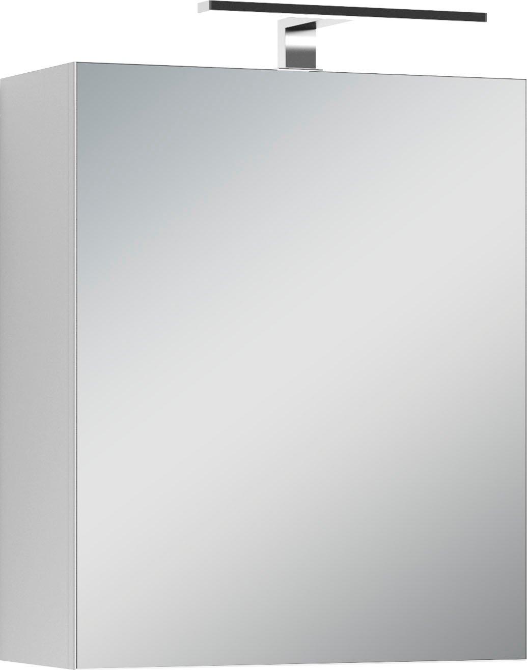 Homexperts spiegelkast Salsa Breedte 50 cm, met ledverlichting & schakelaar-/stekkerdoos nu online kopen bij OTTO