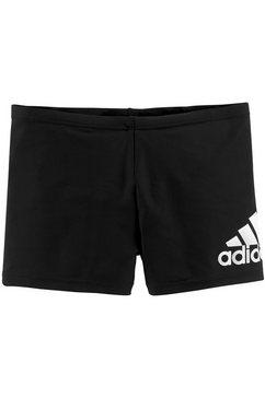 adidas performance zwemboxer met contrastkleurige logoprint zwart
