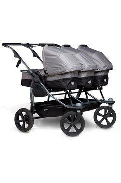 tfk kinderwagen voor een drieling trio grijs