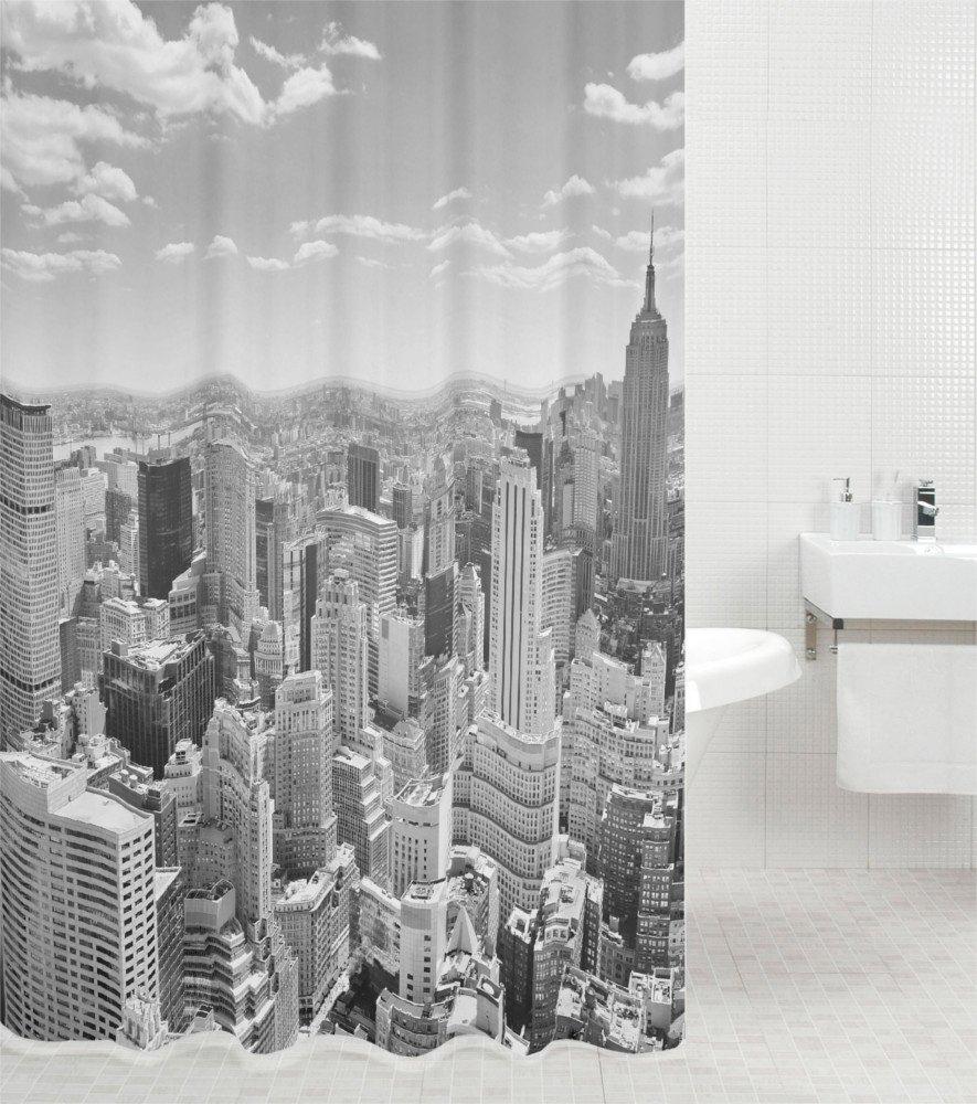 Sanilo douchegordijn Skyline New York Hoogte 200 cm voordelig en veilig online kopen
