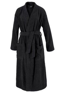 egeria uniseks badjas topaas in kimono-vorm (1 stuk) zwart