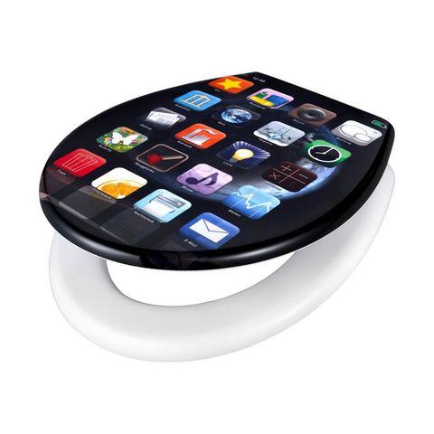 Badkameraccessoires Toiletzitting Apps 673143 zwart
