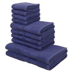my home handdoekenset vanessa met randdessin blauw