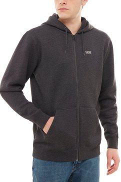 vans capuchonsweatvest basic zip hoodie grijs